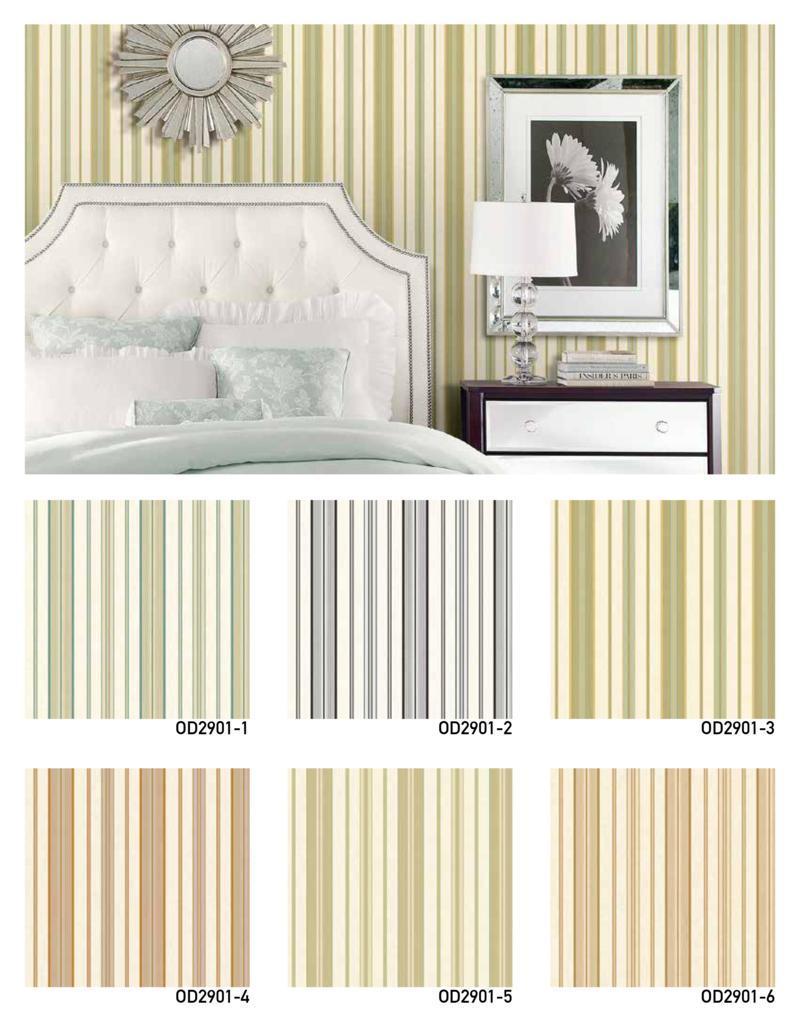 wallpaper dinding garis kamar tidur utama
