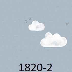 wallpaper dinding kamar motif awan biru