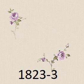 wallpaper dinding kamar tidur motif mawar ungu