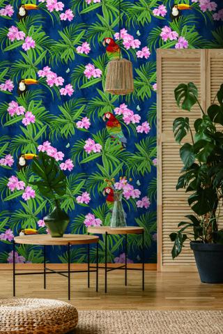 wallpaper dinding elegant motif urbant chick