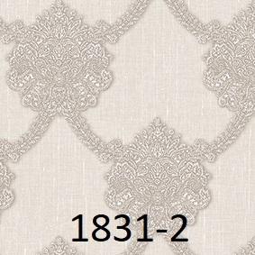 wallpaper dinding batik mewah abu