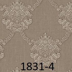 wallpaper dinding batik mewah coklat