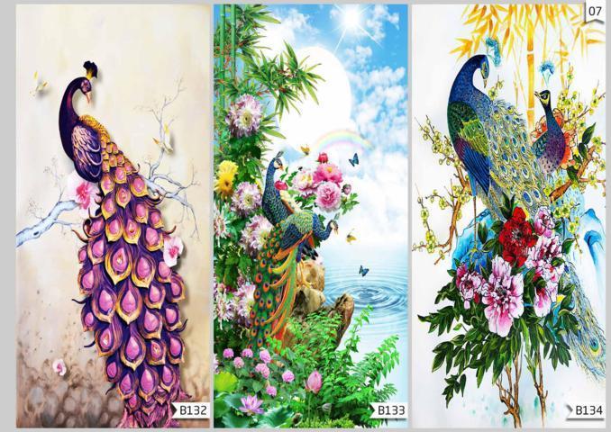 custom 3d wallpaper flower burung
