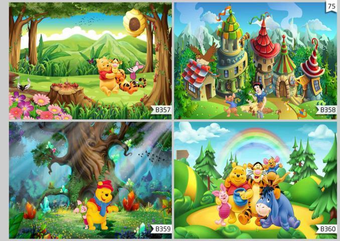 wallpaper 3d dinding kamar anak winnie the pooh