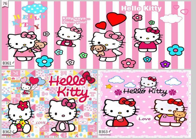 wallpaper 3d dinding kamar anak hello kitty
