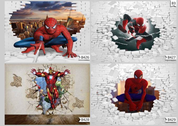 wallpaper kamar anak spiderman