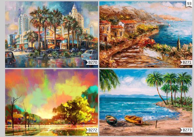 wallpaper custom pemandangan lukisan