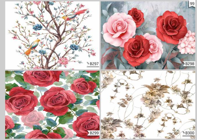 wallpaper dinding motif mawar