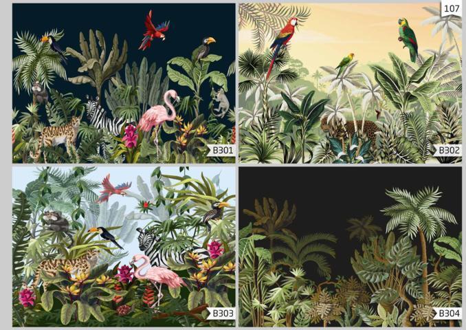 wallpaper dinding motif pemandangan alam,