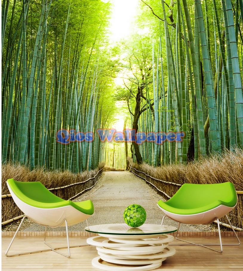 free-shipping-modern-wall-3d-murals-wallpaper-3d-green-font-b-bamboo-b-font-space-3d