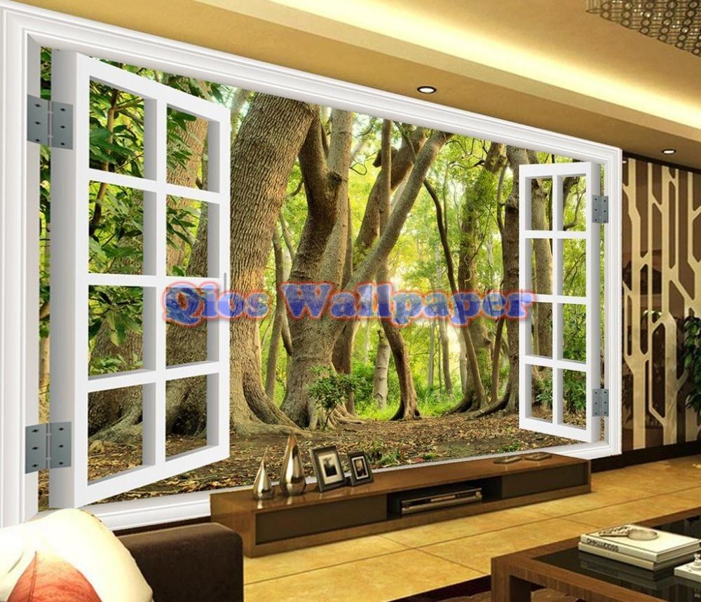janela-de-papel-parede-mural-papel-de-parede-paisagem-da-floresta-3d-quarto-papel-de-parede
