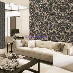Contemporary living room with lavendar colored sofa