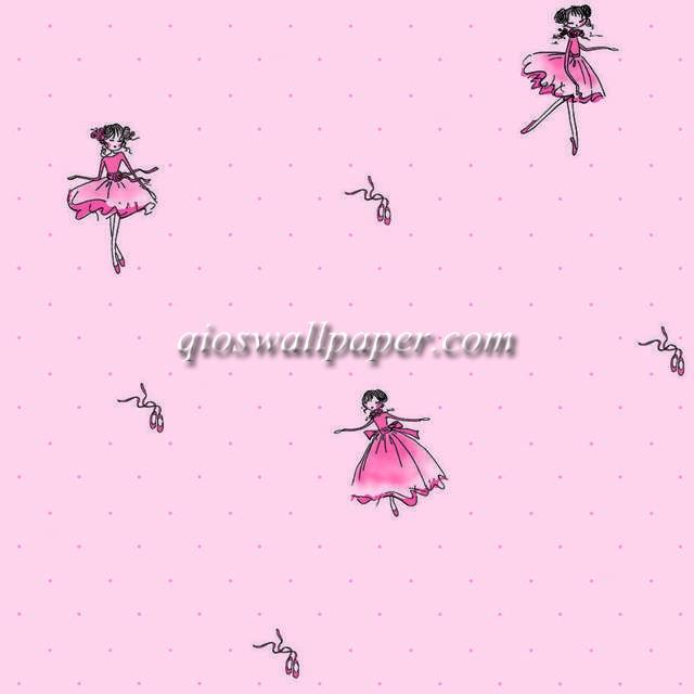 wallpaper dinding anak perempuan pink