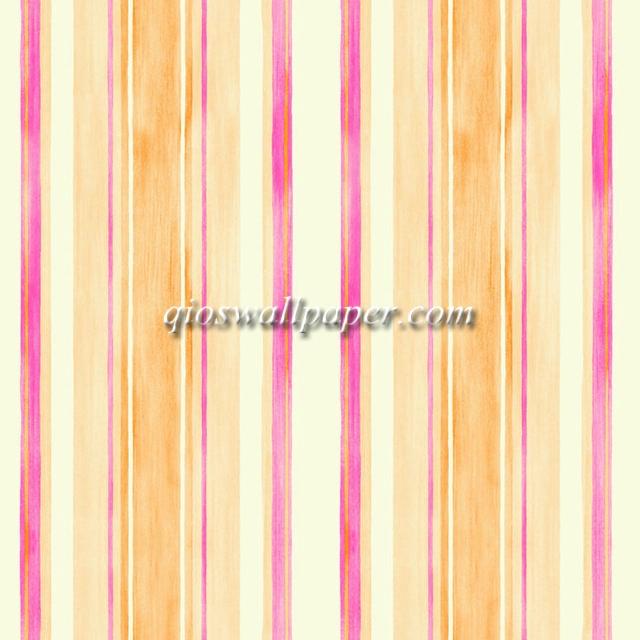Wallpaper dinding garis oranye