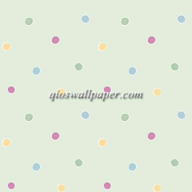jual wallpaper ruang anak polkadot abu abu