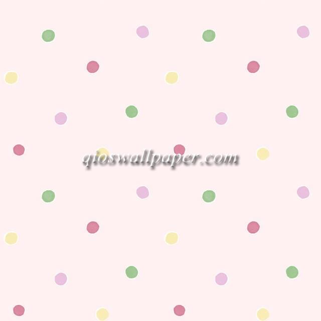 jual wallpaper ruang anak polkadot