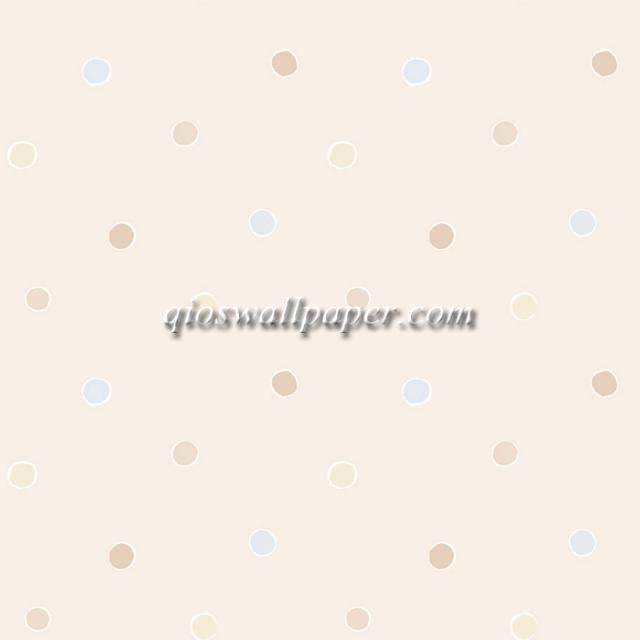 jual wallpaper ruang anak polkadot murah