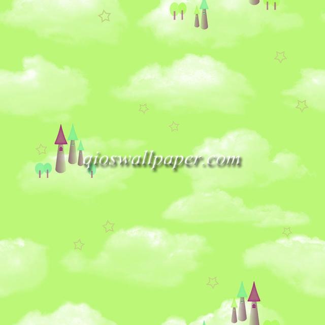 wallpaper dinding awan hijau