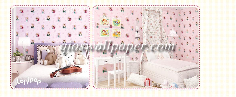 wallpaper dinding frozen murah