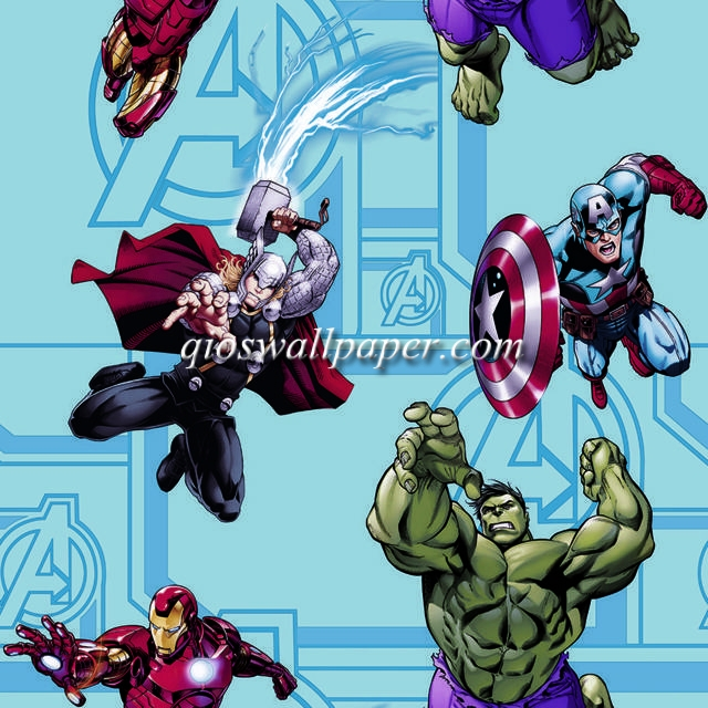 wallpaper kamar anak karakter anak avengers