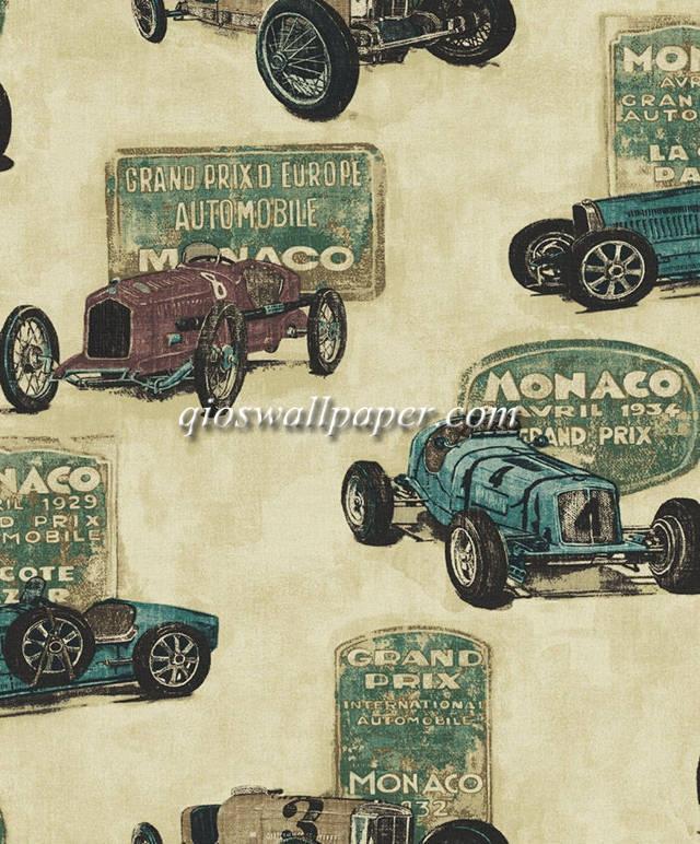 wallpaper kamar anak karakter anak mobil klasik
