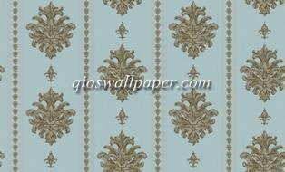 Wallpaper dinding garis klasik