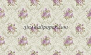 wallpaper ruang tamu  bunga ungu