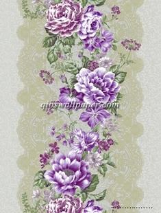 wallpaper dinding salur bunga