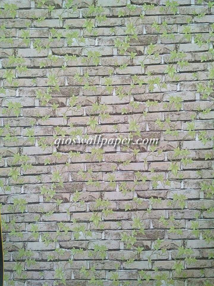 wallpaper ruang tamu batu bata