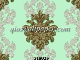 Wallpaper dinding klaisk hijau