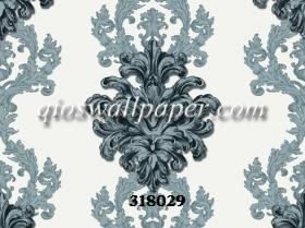 Wallpaper dinding klasik abu abu kamar