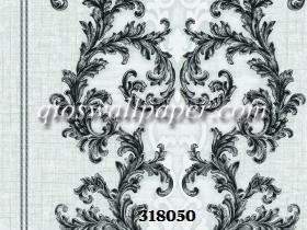 wallpaper ruang tamu batik abu abu