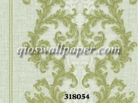 Wallpaper dinding batik hijau klasik