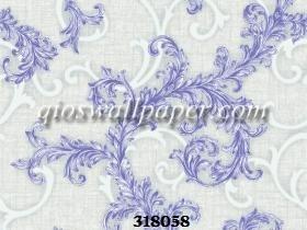 Wallpaper dinding klasik warna biru