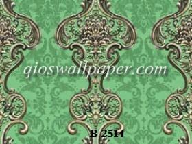 wallpaper ruang tamu salur klasik