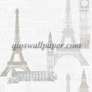 Wallpaper dinding paris warna abu abu