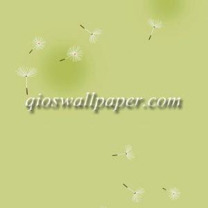 wallpaper dinding motif bunga hijau