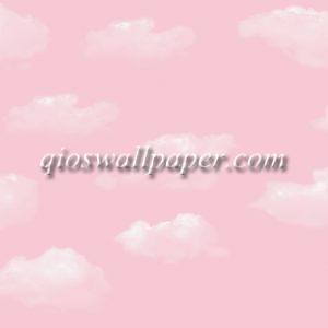 wallpaper dinding awan pink
