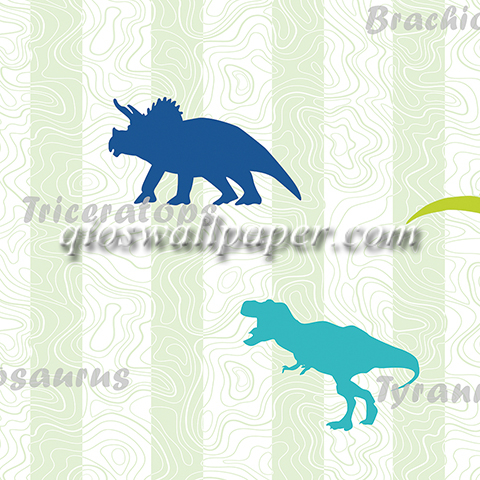 wallpaper dinding kamar anak dinosaurus