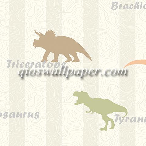 wallpaper dinding ruangan anak dinosaurus