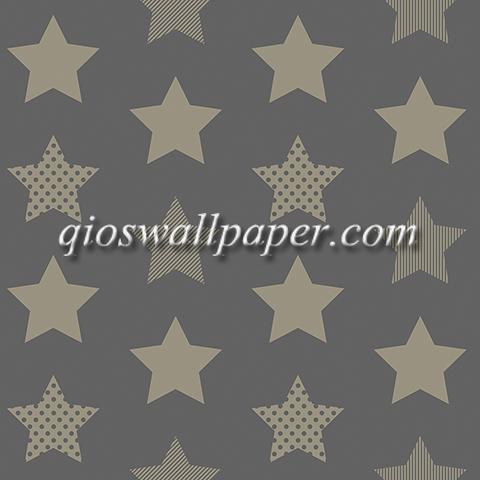 Wallpaper dinding bintang warna abu abu