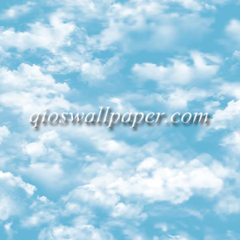 wallpaper dinding plafon awan