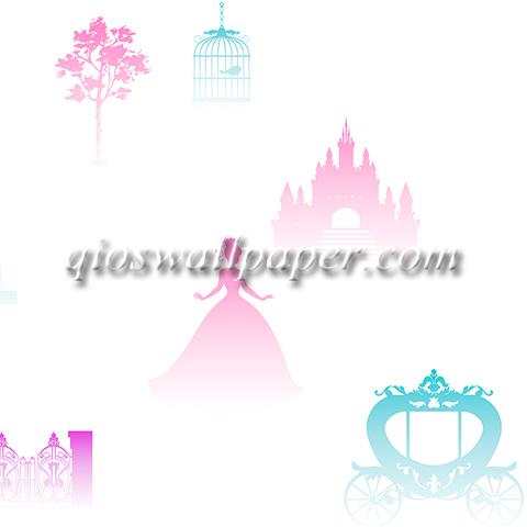 wallpaper dinding anak perempuan princess