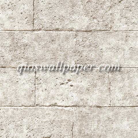 Wallpaper dinding batu bata warna coklat