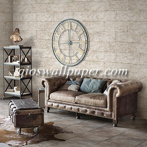 Wallpaper dinding ruang tamu batu bata