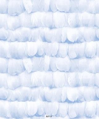 wallpaper ruang tamu minimalis biru