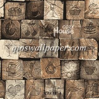 toko jual wallpaper dinding motif rustik coklat