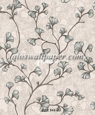 toko wallpaper dinding kamar motif daun ulir