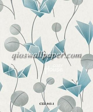 toko wallpaper dinding kamar motif daun burung