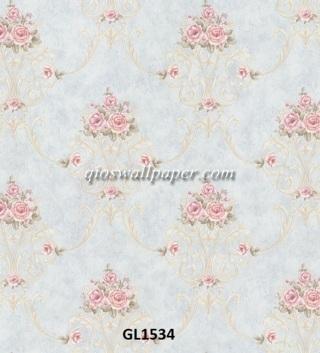 kamar dengan wallpaper dinding,